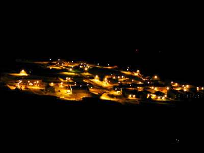 McMurdo Station at night