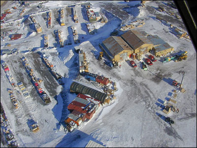 McMurdo Station from the air