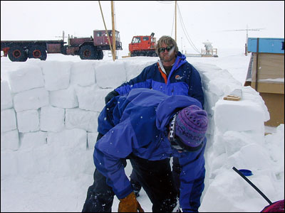 Building a snow wall
