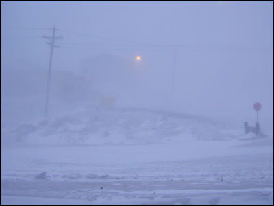 McMurdo in a condition one storm