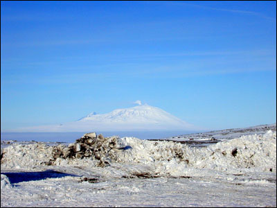 Mt. Erebus from Marble Point