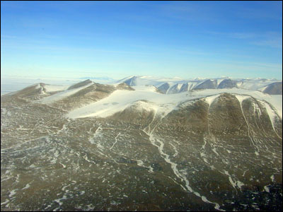 Dry Valleys from the air