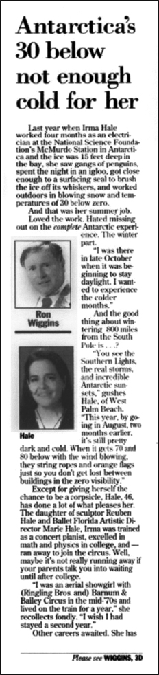 Palm Beach Post  - Ron Wiggins - page 1